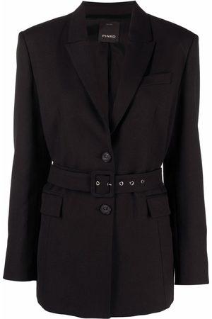 Pinko Damen Blazer & Sakkos - Belted single-breasted blazer