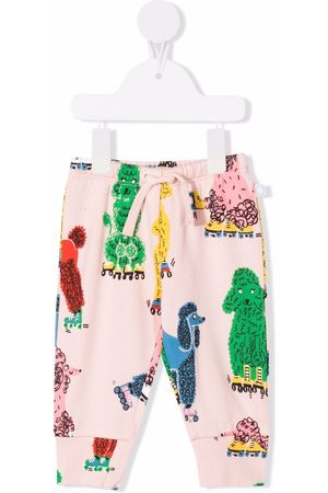 Stella McCartney Dog-print cotton track trousers