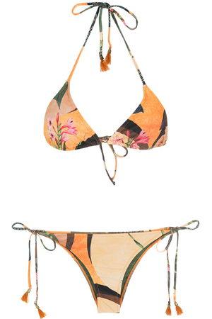 Lygia & Nanny Floral-print halterneck bikini