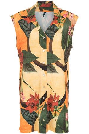 Lygia & Nanny Floral leaf print shirt dress