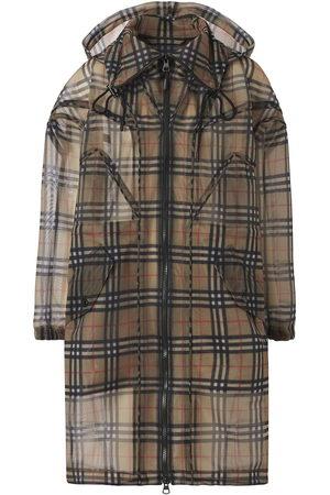 Burberry Damen Parkas - Vintage Check mesh parka coat