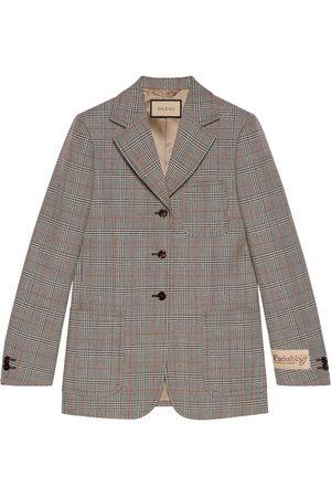Gucci Damen Blazer & Sakkos - Check-pattern single-breasted blazer