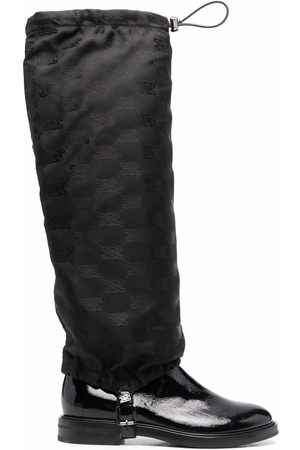 Casadei Patent leather knee-high boots
