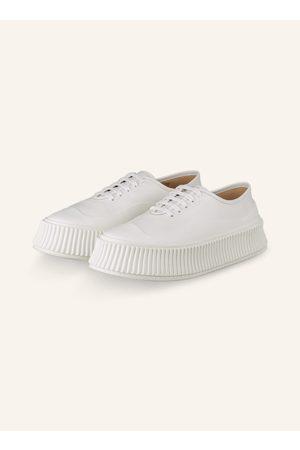 Jil Sander Plateau-Sneaker weiss