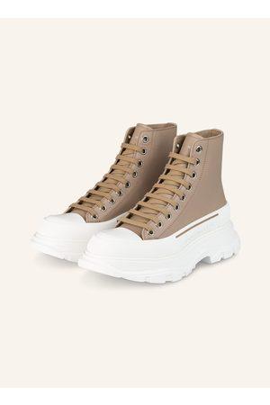 Alexander McQueen Damen Stiefeletten - Hightop-Sneaker beige