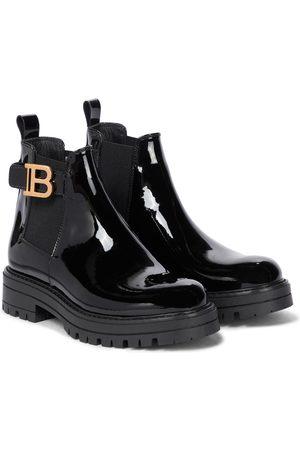 Balmain Chelsea Boots aus Lackleder