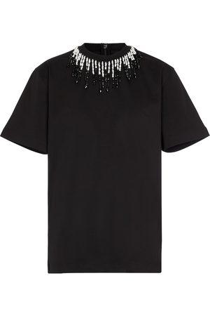 Christopher Kane Verziertes T-Shirt aus Baumwoll-Jersey