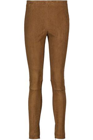 Polo Ralph Lauren High-Rise Skinny-Hose aus Veloursleder