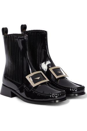 Roger Vivier Chelsea Boots Preppy Viv' aus Lackleder