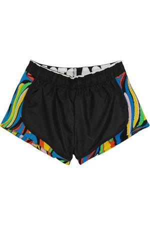 Stella McCartney Mädchen Shorts - Bedruckte Shorts mit Mesh