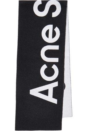 Acne Studios Jacquard-Schal aus einem Wollgemisch