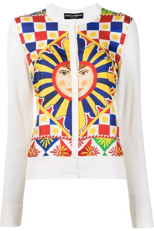 Dolce & Gabbana Damen Jumpsuits - All-over print cardigan