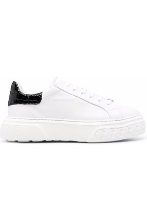 Casadei Off road Lacroc leather sneakers