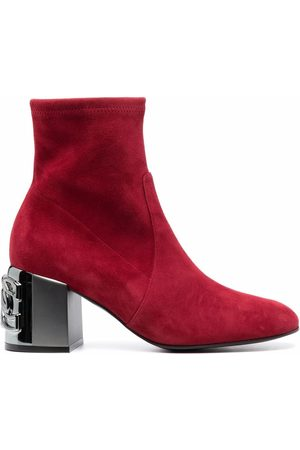 Casadei C-Chain suede ankle boots