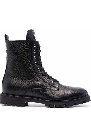 Philipp Plein Star-studded leather boots