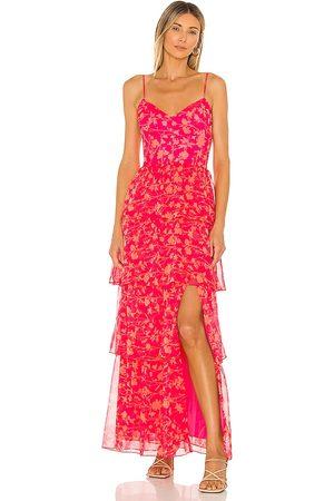 Amanda Uprichard Damen Lange Kleider - Thaddea Maxi Dress in - Fuchsia. Size L (also in S, M, XS).