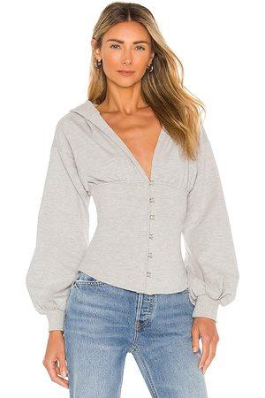 superdown Damen Sweatshirts - Martine Corset Hoodie in - Grey. Size L (also in XXS, XS, S, M, XL).