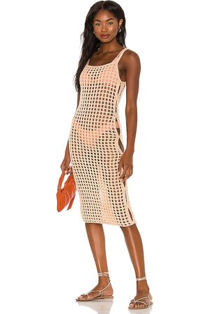 lovewave Damen Midikleider - The Coralee Midi Dress in - Peach. Size L (also in XS, S, M).