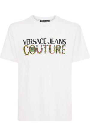 VERSACE JEANS COUTURE T-shirt Aus Baumwolljersey Mit Logodruck
