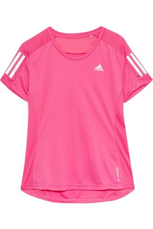Adidas Damen Shirts - Laufshirt Own The Run Mit Mesh-Einsätzen pink