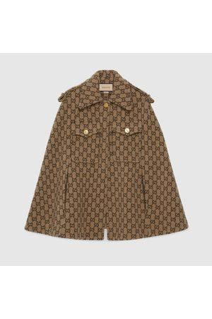 Gucci Damen Mäntel - Cape aus Wolle mit GG Motiv