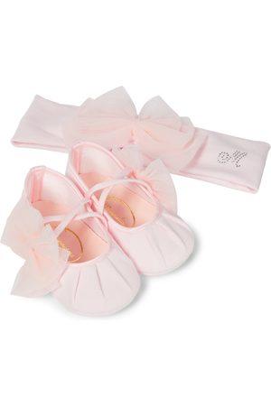 MONNALISA Baby Set aus Haarreif und Schuhen