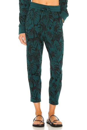 TWENTY MONTREAL Monstera Hyper Reality Knit Sweatpant in - Green. Size L (also in M, S, XS).