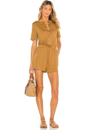 Lovers + Friends Damen Jumpsuits - Anderson Romper in - Brown. Size L (also in M, S, XS).