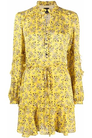 Pinko Ruffle-detail floral-print dress