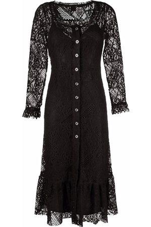 Pinko Damen Freizeitkleider - Floral-lace sleeves dress