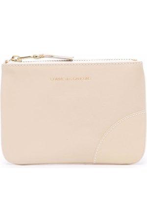 Comme Des Garçons Wallet Engraved-logo leather pouch
