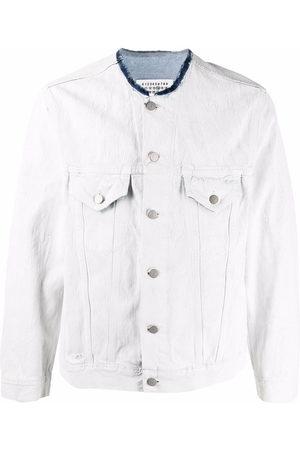 Maison Margiela Herren Jeansjacken - Raw-cut collar denim jacket