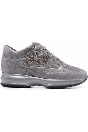 Hogan Damen Sneakers - Interactive low-top suede sneakers