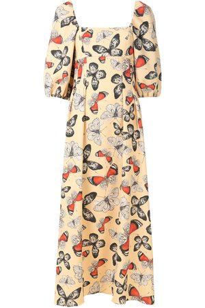 Olympiah Damen Freizeitkleider - Printed Arctia midi dress