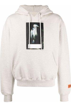 Heron Preston Heron-print cotton hoodie