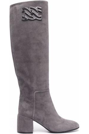 Casadei Knee-high suede boots