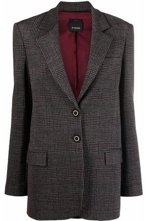 Pinko Check-pattern single-breasted blazer
