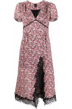 Pinko Damen Freizeitkleider - Floral lace-trim midi dress