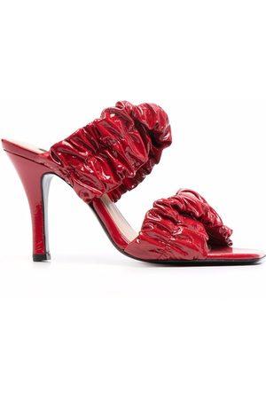 Pinko Damen Sandalen - Gathered-leather sandals