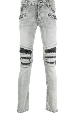Balmain Herren Straight - Distressed-finish denim jeans