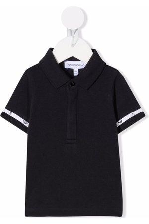 Emporio Armani Kids Logo-tape cotton polo shirt