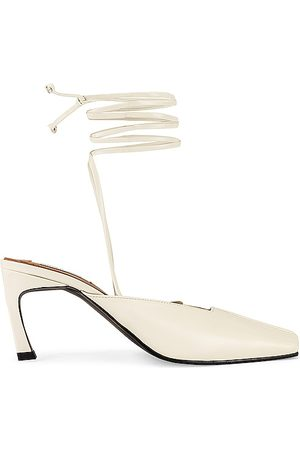 Reike Nen Piping Strap Heels in - Ivory. Size 35 (also in 36, 37, 38, 39, 40).