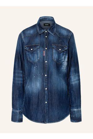 Dsquared2 Damen Blusen - Jeanshemd blau