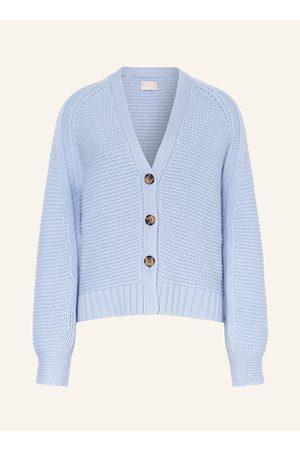 Mrs & HUGS Cashmere-Strickjacke blau