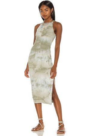 House of Harlow X Sofia Richie Tali Midi Dress in - Olive. Size L (also in M, S, XL, XS, XXS).