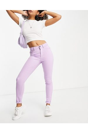 Noisy May Organic cotton blend skinny jeans in purple