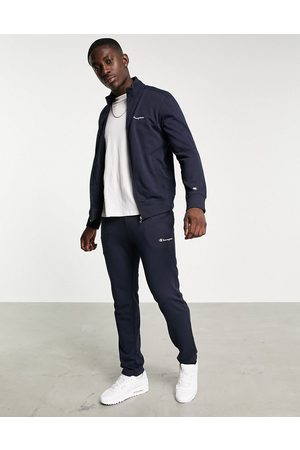 Champion Small logo tracksuit set in navy
