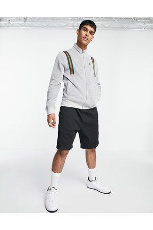 Luke Dezzy sport funnel neck zip thru sweat-Grey