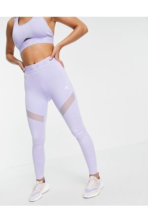 adidas Adidas Training leggings with branded waistband in lilac-Purple