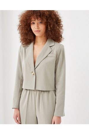 4th & Reckless 4th + Reckless boxy tailored blazer in sage green